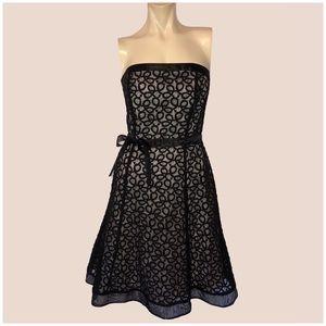 White House Black Market Strapless Organza Dress